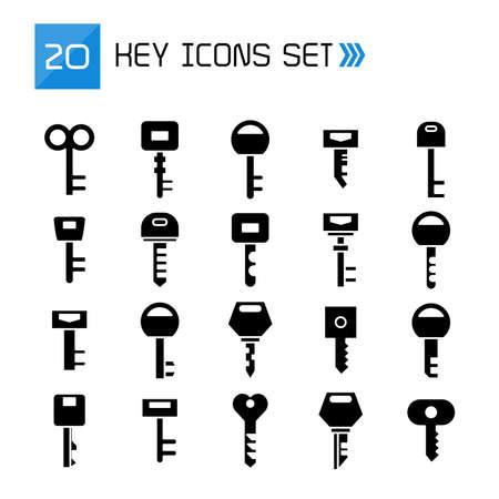 key icons vector illustration set
