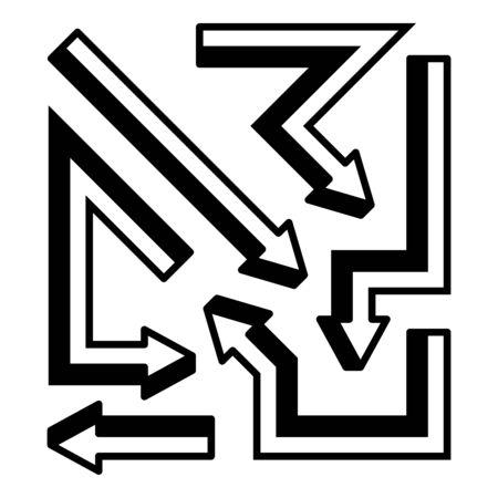 arrows vector illustration cuboid theme