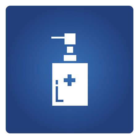 cleaning gel, medical bottle symbol Vector Illustratie