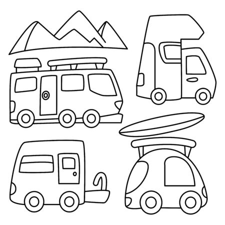 recreational vehicle and camping car line design theme