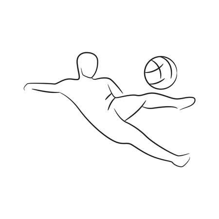 soccer football player vector illustration
