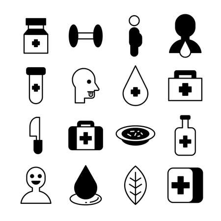 medical icon vector illustration Çizim