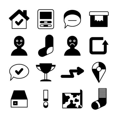 web application icons vector set