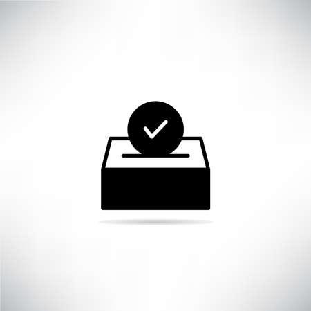 vote box and check mark icon vector illustration