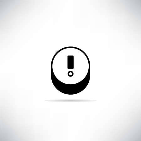 warning, exclamation sign vector illustration with shadow