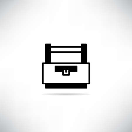 toolbox icon with shadow on gray background vector 向量圖像