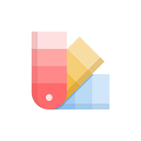 color palette and swatch icon vector
