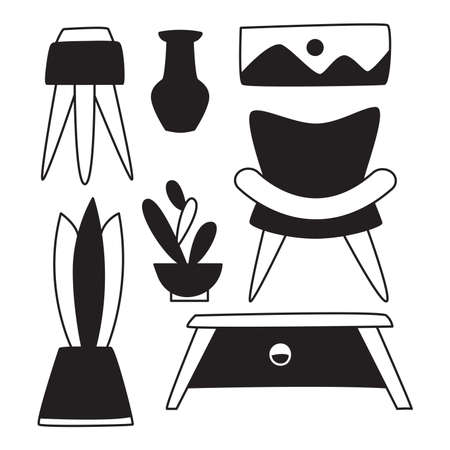 furniture and home decoration Vector Illustratie