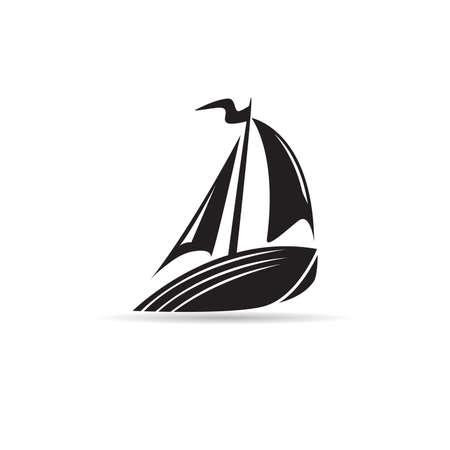 yacht icon vector on white background Illustration
