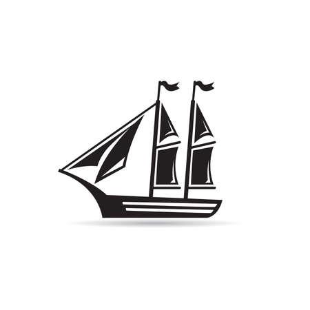 sailboat icon vector on white background 矢量图像