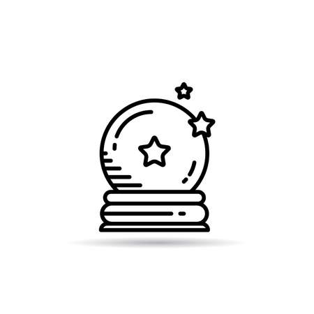 magic crystal ball icon vector illustration
