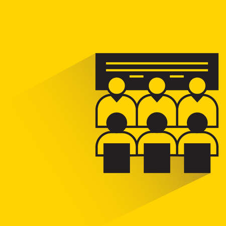 board meeting icon on yellow background Vecteurs