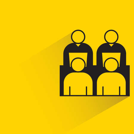 board meeting icon on yellow background