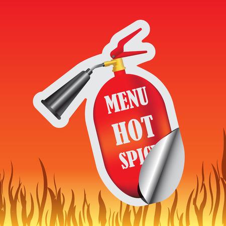 spicy: Hot spicy sticker