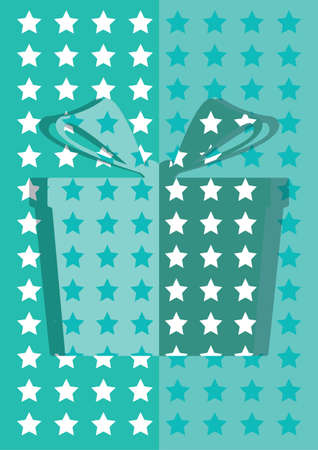 blue gift box: blue gift box background card