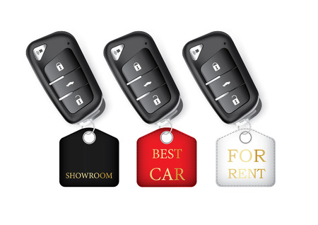 car isolated: Car keys isolated realistic