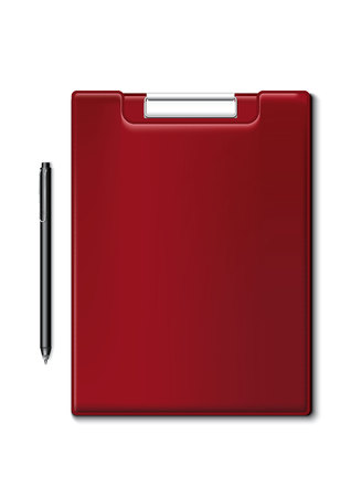 writing pad: Pen and writing pad, red