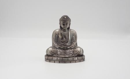 Great buddha or Daibutsu silver model of Kamakura Japan.