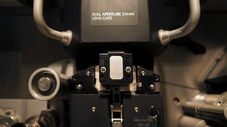 Telecine machine semi analog and digital for editing or adjusting color grade on film or video movie.