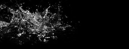 Blurry images of drinking water liquid wave or carbonate drink or oil shape or soda splashing and floating drop in black background for represent sparkling refreshment and refreshing Stock Photo