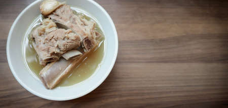 Bah Kut Teh pork ribs or pork bone soup, this menu is very popular and most famous in Singapore and Malaysia which made from variety of Asia herbal spices and pepper stream with meat for yummy taste.