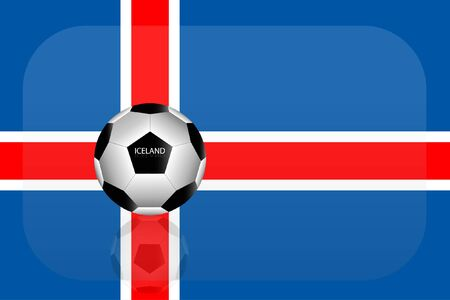 Iceland flag Stok Fotoğraf - 59408436