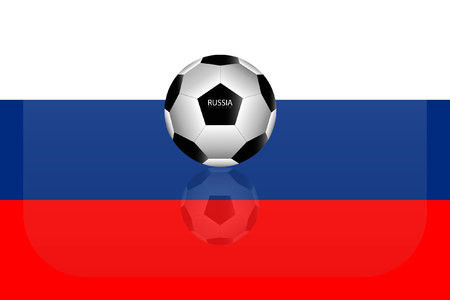 Russia flag 向量圖像