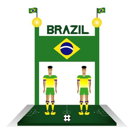 Summer sport Brazil football team