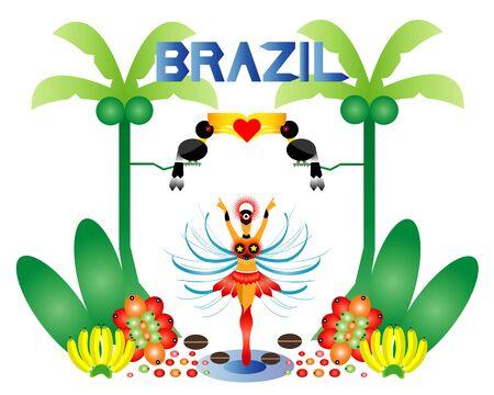 remarkable: Brazil framing remarkable Illustration