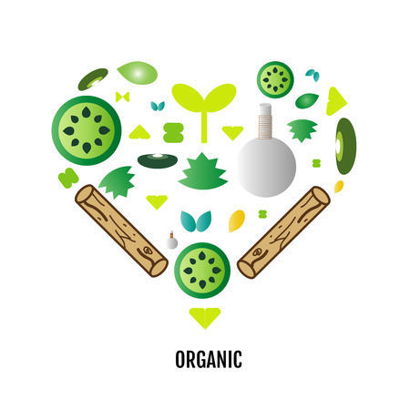 Love organic herbal and veggies logo