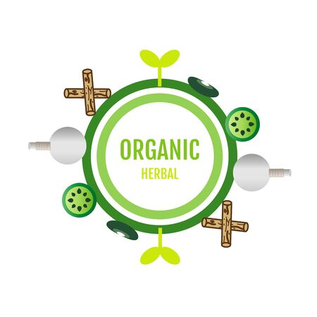 Organic herbal logo