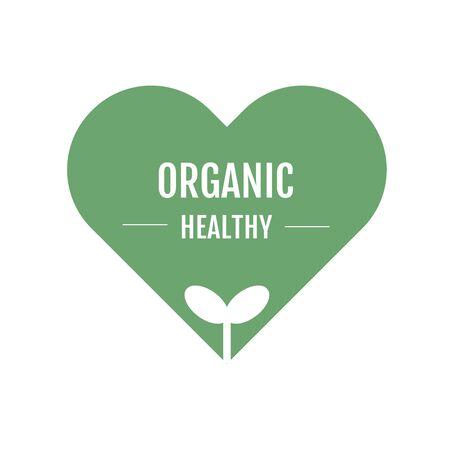 Organic healthy logo