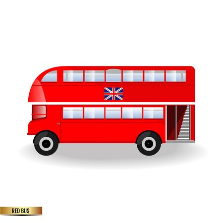 United kingdom classic red bus Çizim