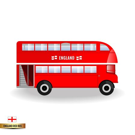 England red bus Çizim