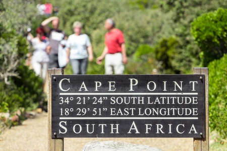 south park: Pathway in the cape town leading to Cape point lighthouse Editorial