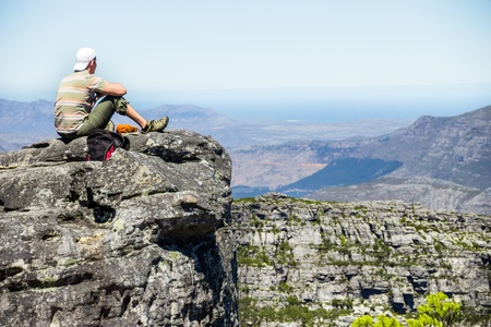 Table mountain, 7 new world wonders inside of Cape Town city photo