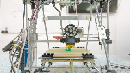 Whole view at open source created 3D printer