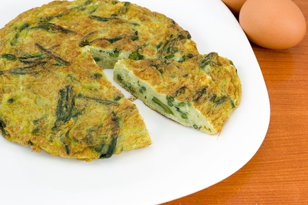 rittata with asparagus photo