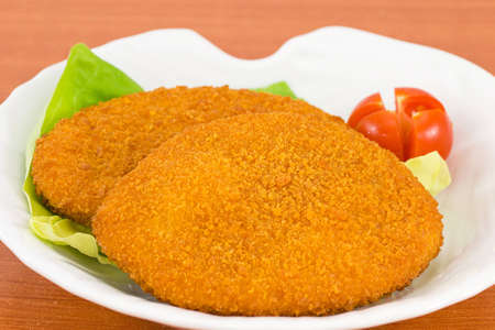 Breaded fish fillet photo