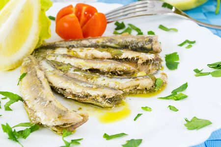 marinated anchovies Stock Photo - 13170547