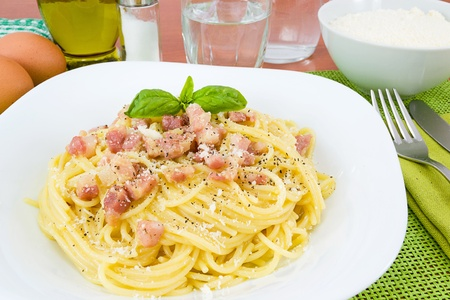 Spaghetti alla carbonara photo
