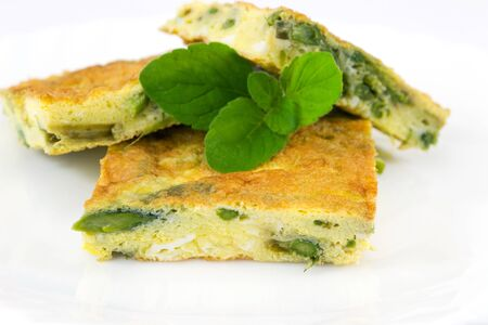 frittata with asparagus Imagens - 13170605