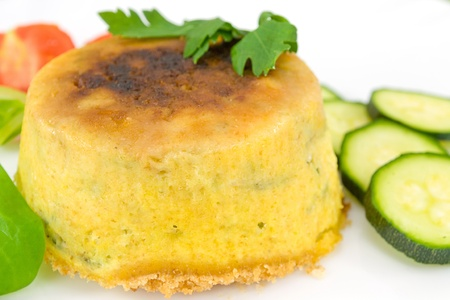pie with courgettes stuffed with ricotta cheese