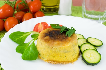 zucchini and ricotta cheese souffle pie photo