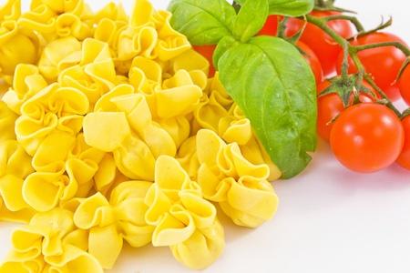 Tortellini stuffed with meat photo