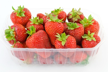 Strawberries in tubs Stock Photo - 13533408