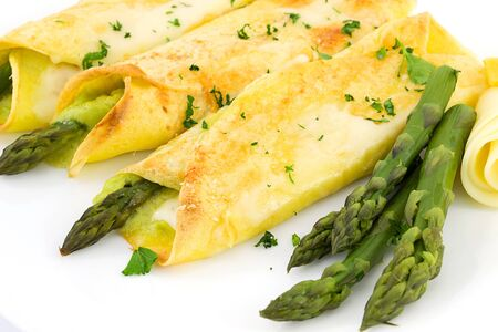 crepes with asparagus photo