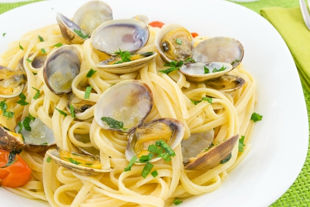 linguine with clams Imagens