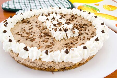 decoracion de pasteles: de chocolate tarta de queso Foto de archivo
