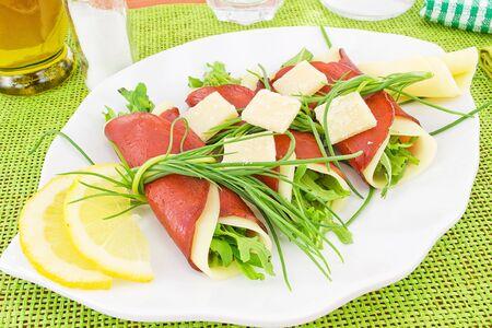 rolls of bresaola photo